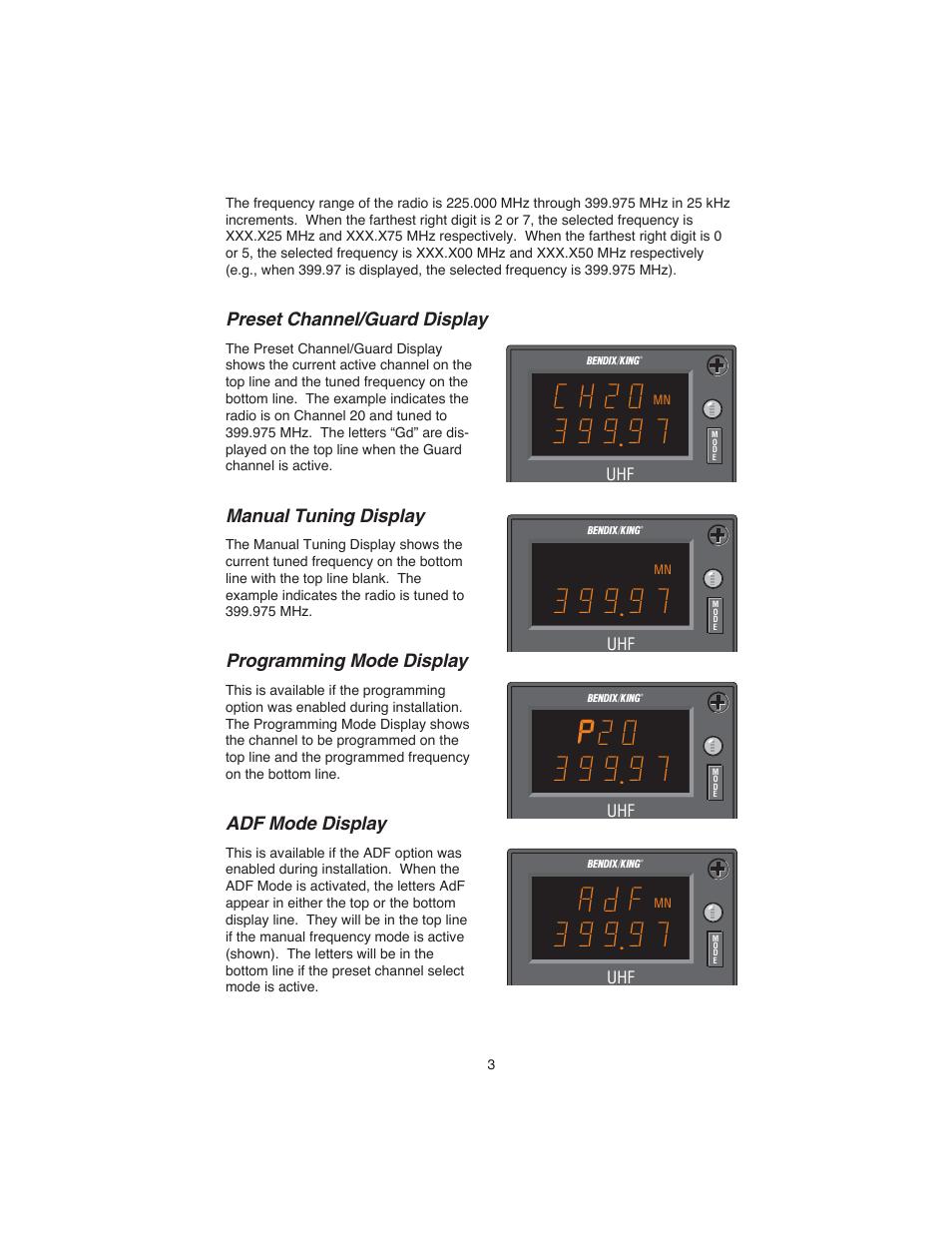 Bendix King Adf Manual Wiring Diagram Bolens G194 Array Preset Channel Guard Display Tuning Programming Rh Manualsdir Com