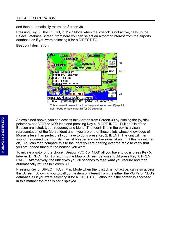 Beacon information, Beacon information 29 | BendixKing SKYMAP IIIC User  Manual | Page 72 /
