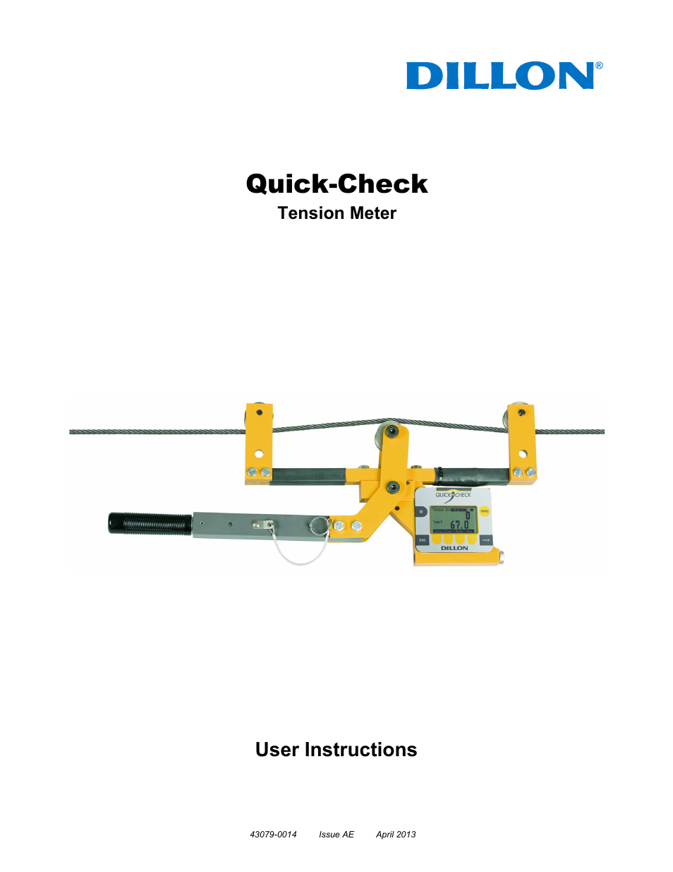 Dillon Quick-Check Wire Tension Meter (Old) User Manual | 28 pages