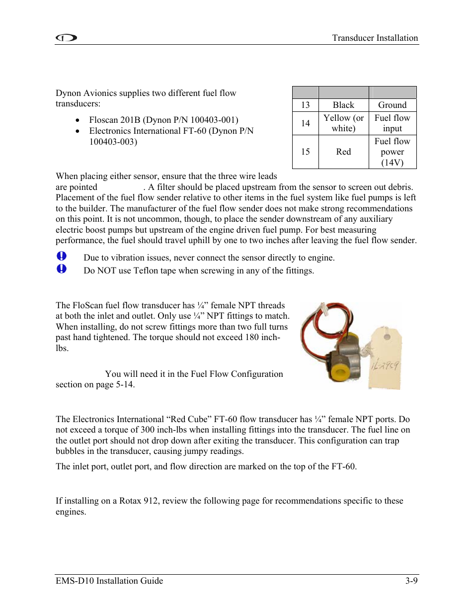 fuel flow sensor general placement recommendations floscan rh manualsdir com User Manual Template Instruction Manual Example