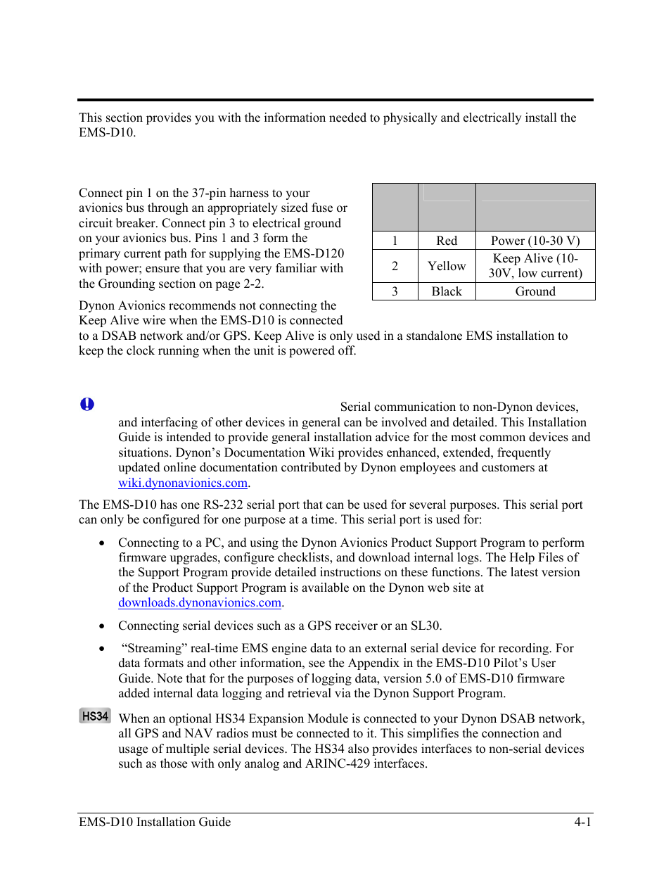 Instrument installation, Power bus wiring, Serial communication ...