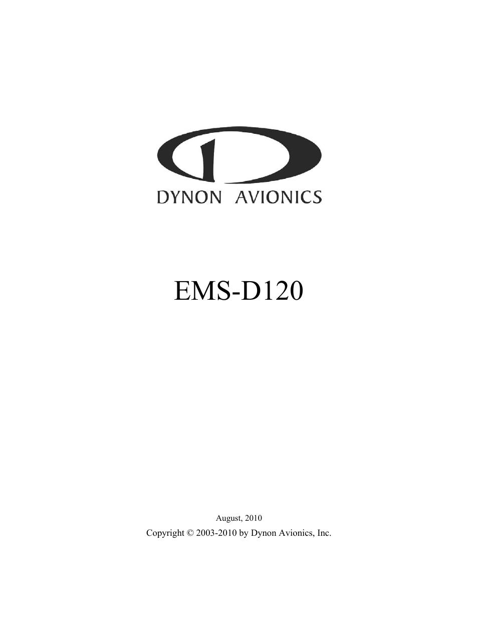 dynon avionics ems