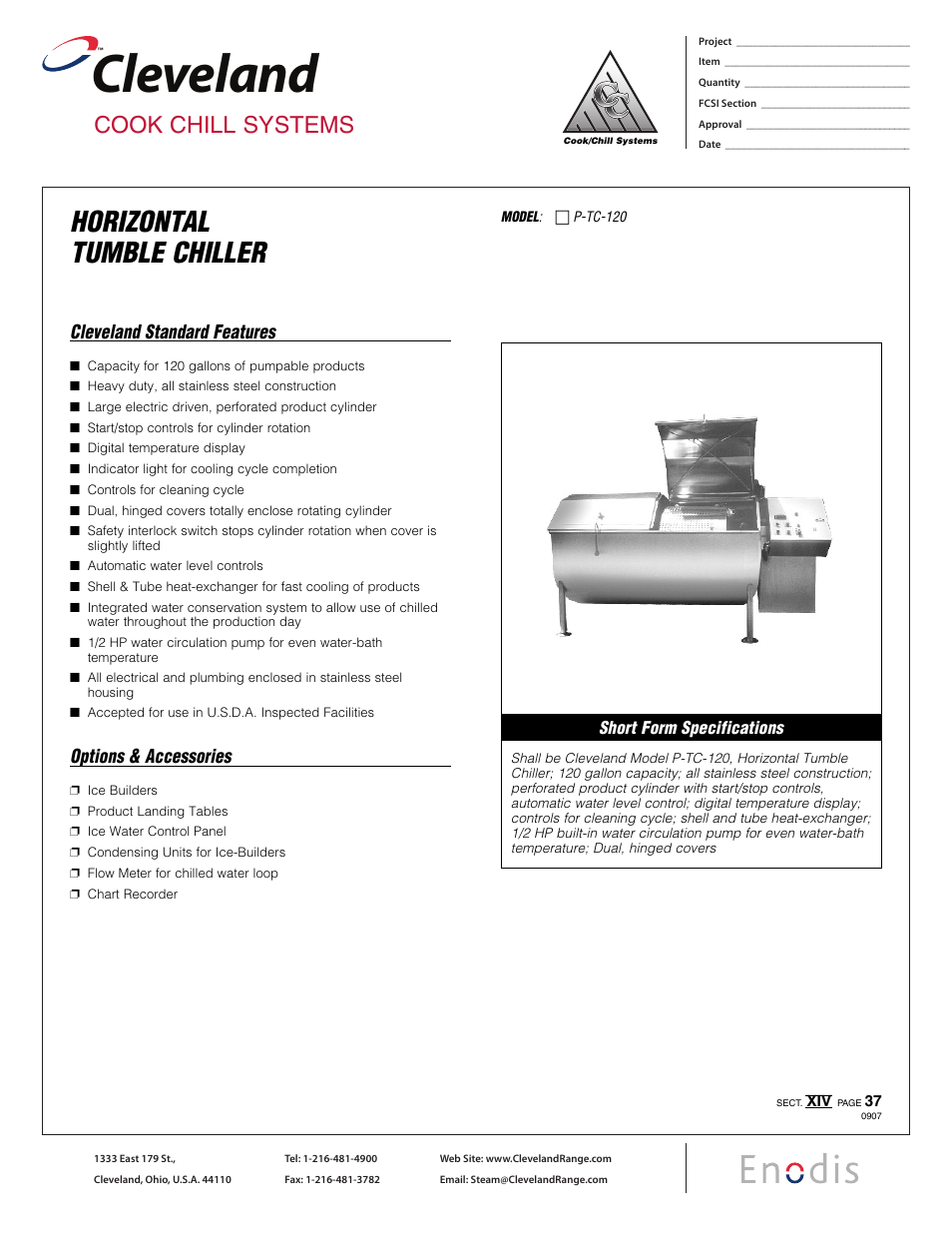 cleveland range horizontal tumble chiller p tc 120 user manual 2 pages Chiller Refrigeration Cycle Diagram