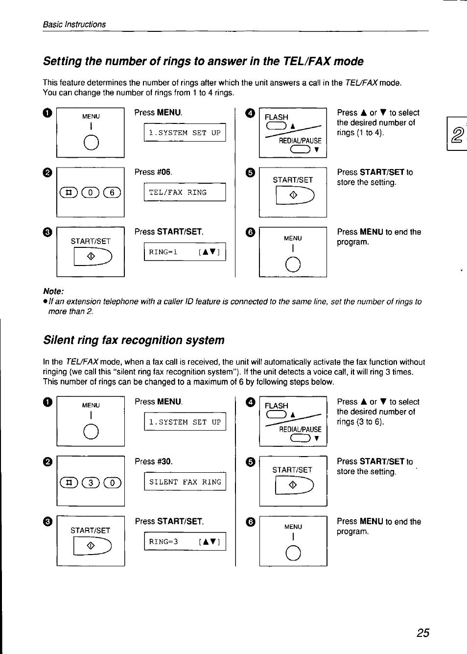 Panasonic KX-F750 User Manual | Page 25 / 84 | Original mode