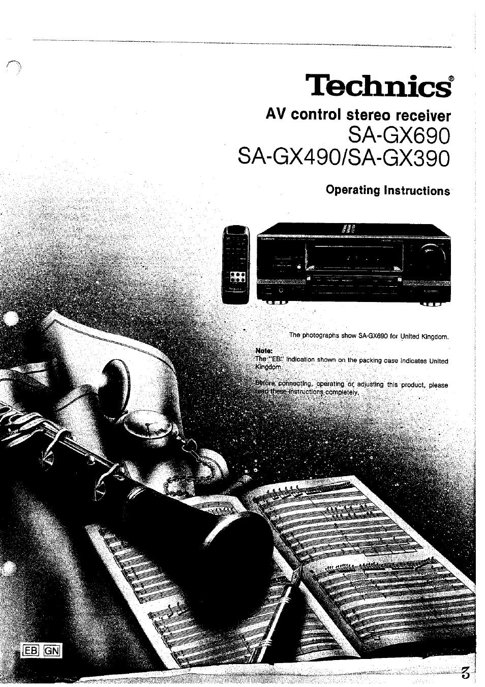 Panasonic stereo receiver sagx690 user guide | manualsonline.