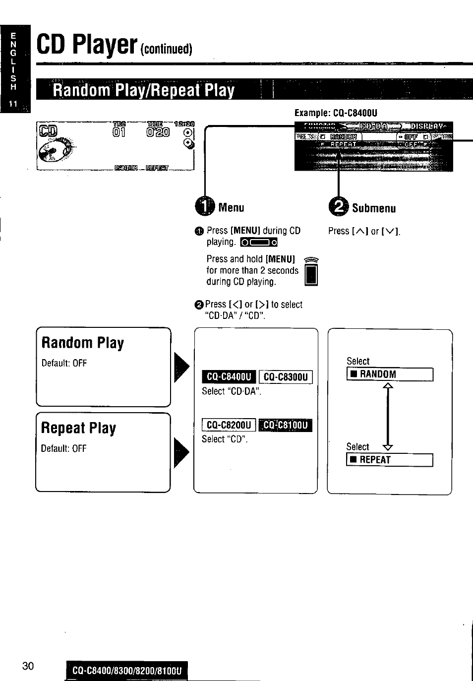 Panasonic Cq C8400u Wiring Diagram Manual Of Bal3000 Em Ballast Cd Player Continued Rlaifdom Play Repeat Rh Manualsdir Com