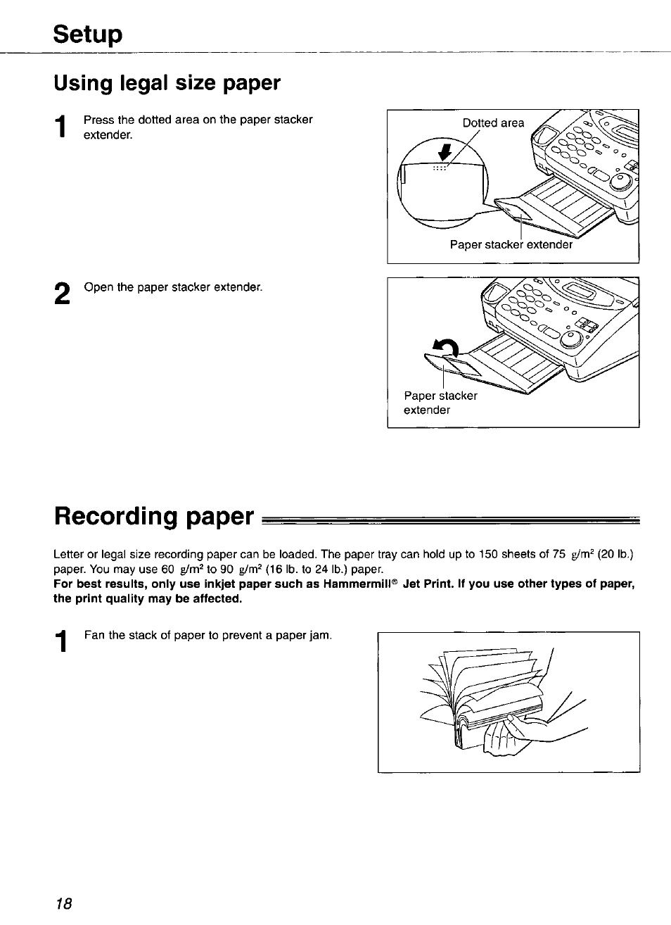 using legal size paper recording paper setup panasonic kx fp101 rh manualsdir com legal annual leave entitlement legal analsysis of jersey foundations