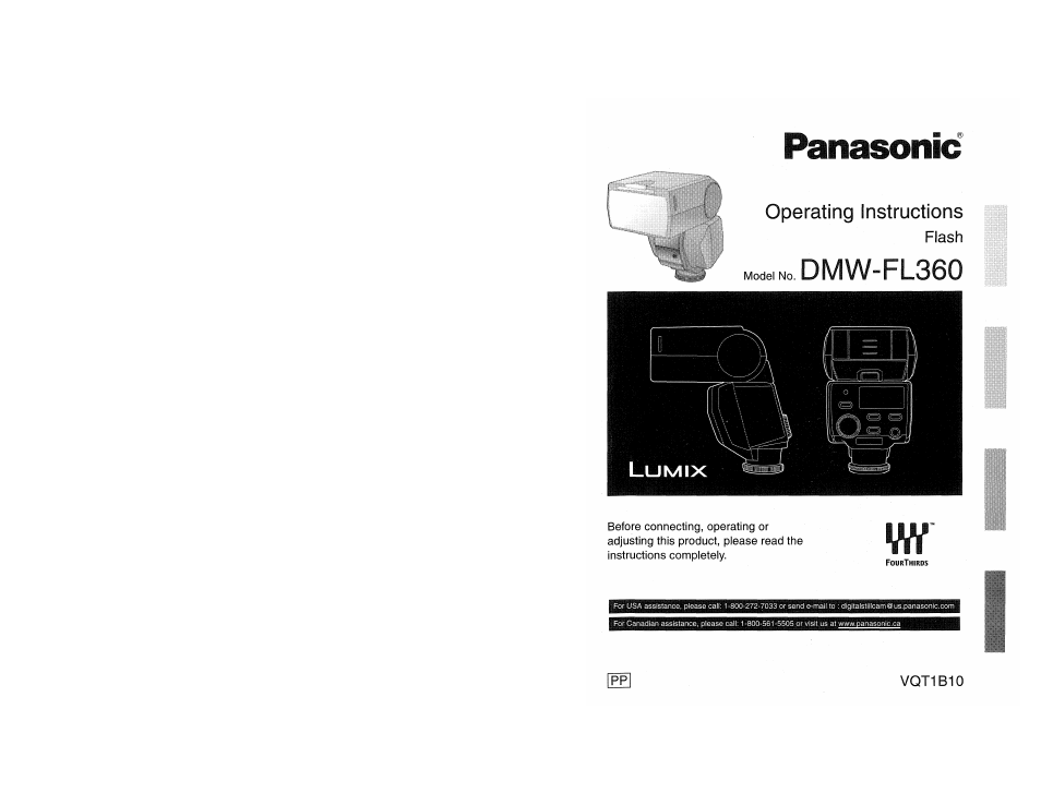 Panasonic lumix dmw-fl360 user manual | 60 pages.
