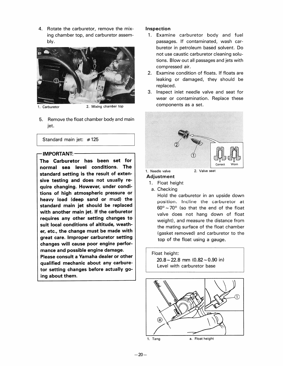 Inspection, Adjustment | Yamaha pw80 User Manual | Page 32 / 64