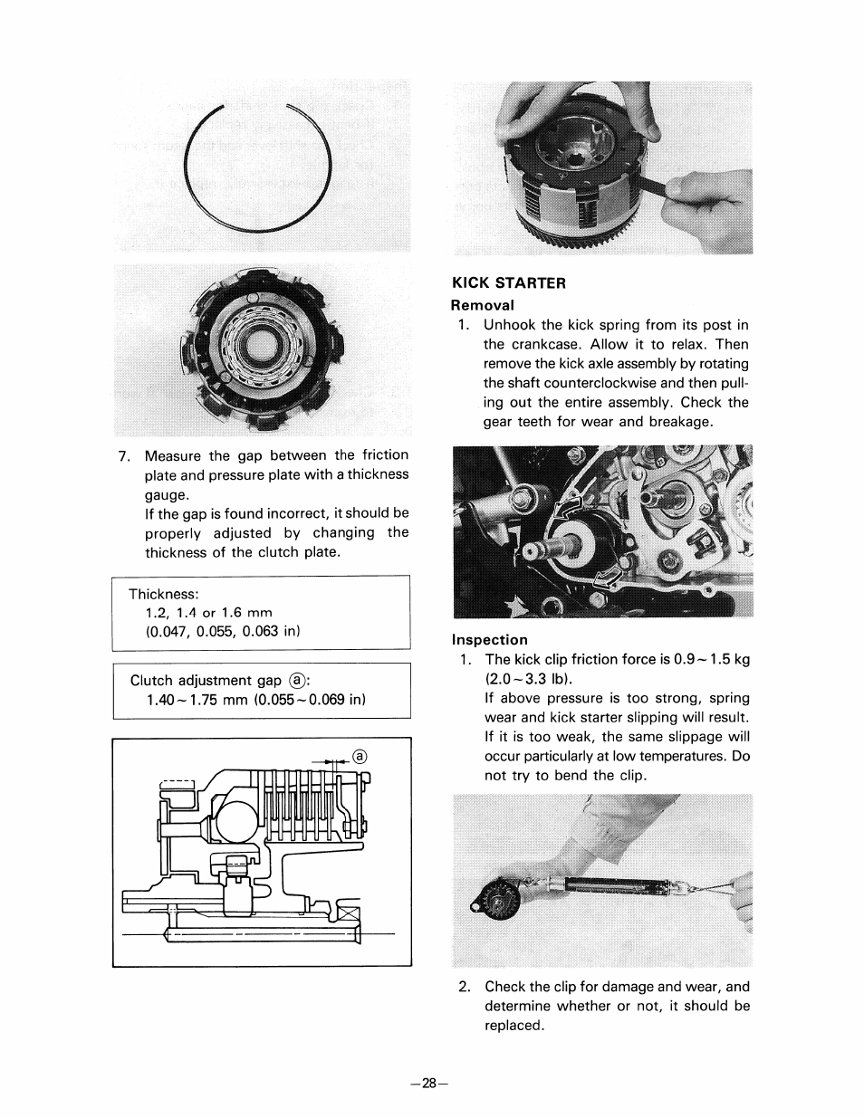 pw80 clutch adjustment