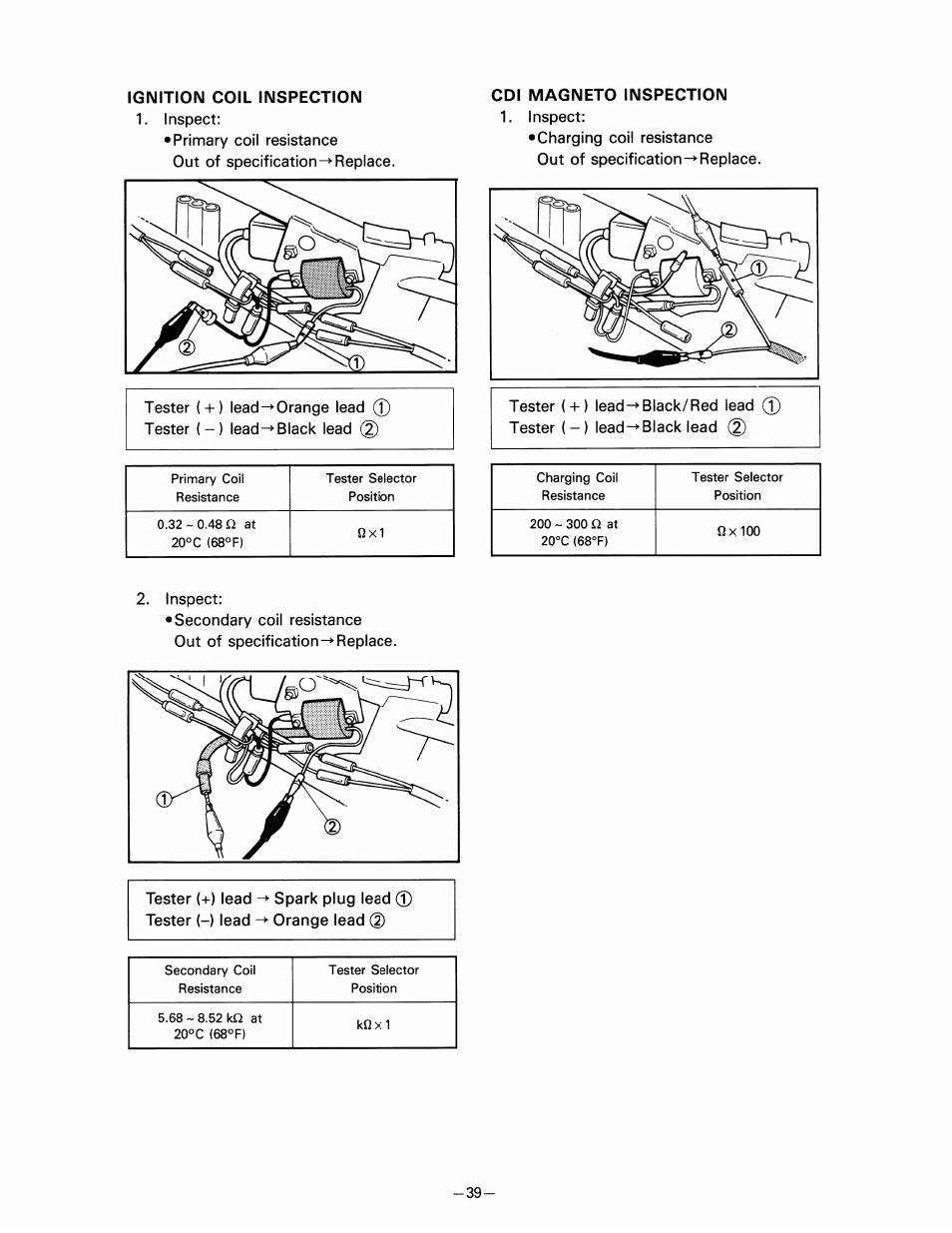 ignition coil inspection cdi magneto inspection yamaha pw80 user rh manualsdir com
