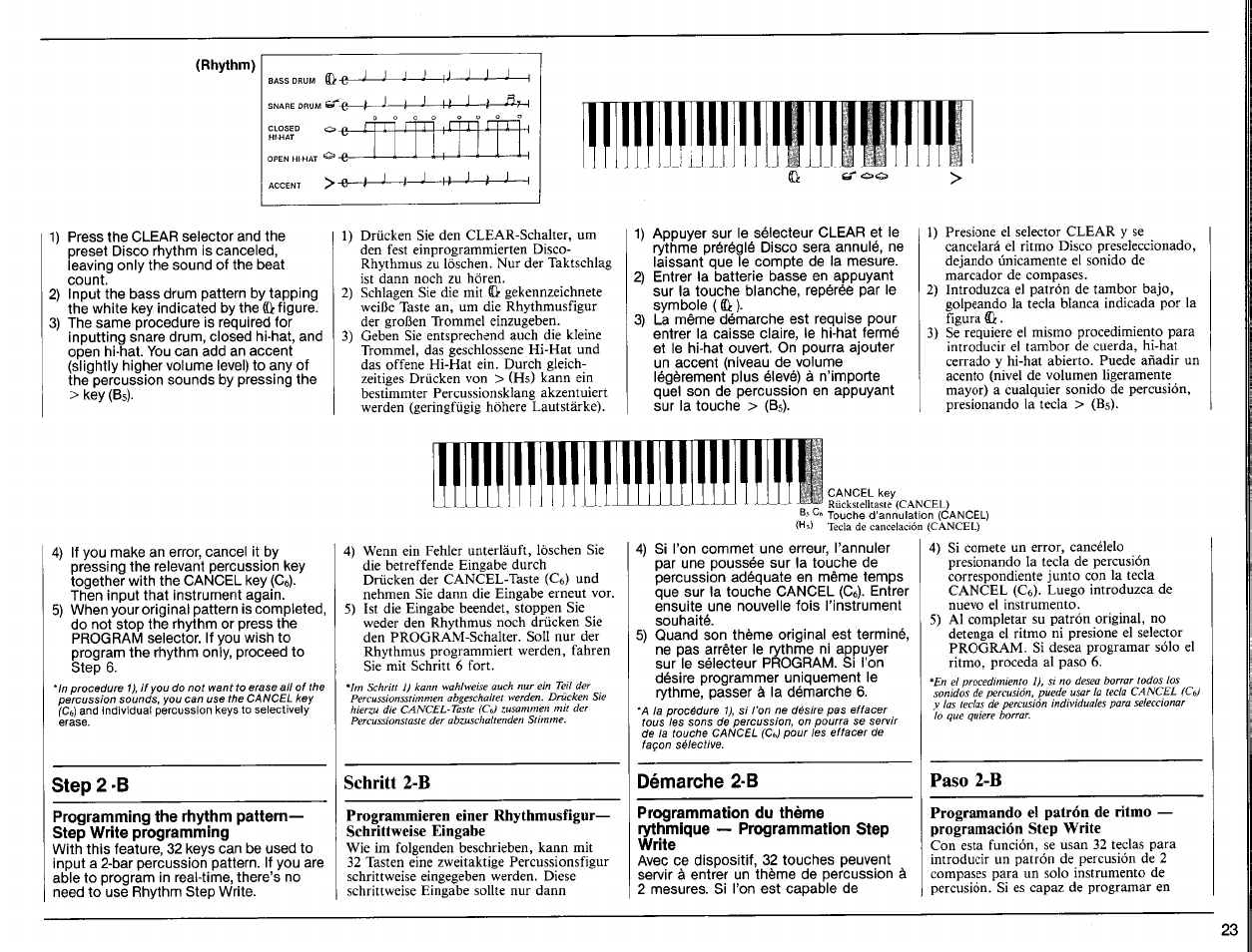rhythm step 2 b d marche 2 b yamaha psr 6300 user manual rh manualsdir com Kindle Fire User Guide User Guide Template