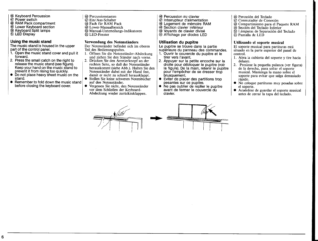 using the music stand verwendung des notenst nders utilisation du rh manualsdir com Example User Guide Quick Reference Guide