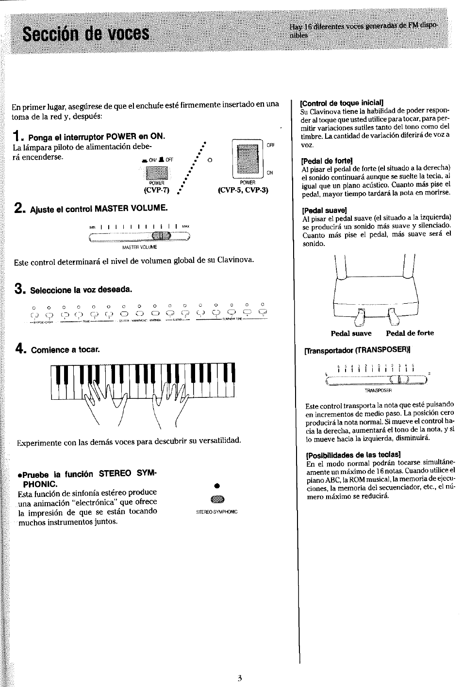 secci n de voces yamaha clavinova cvp 7 user manual page 7 22 rh manualsdir com Owner's Manual User Manual PDF