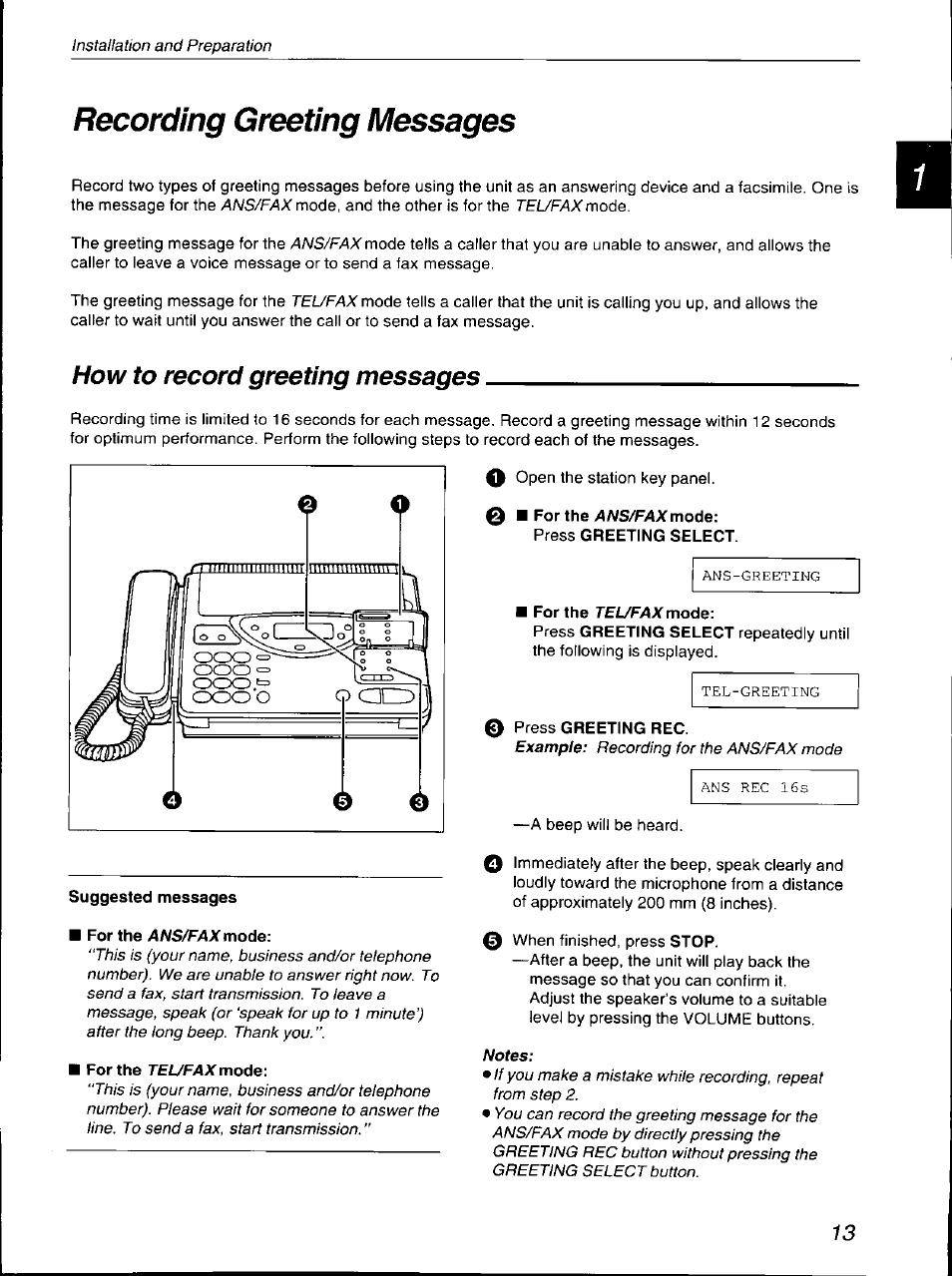 recording greeting messages how to record greeting messages rh manualsdir com Panasonic Kx TG Base Panasonic Owner's Manual