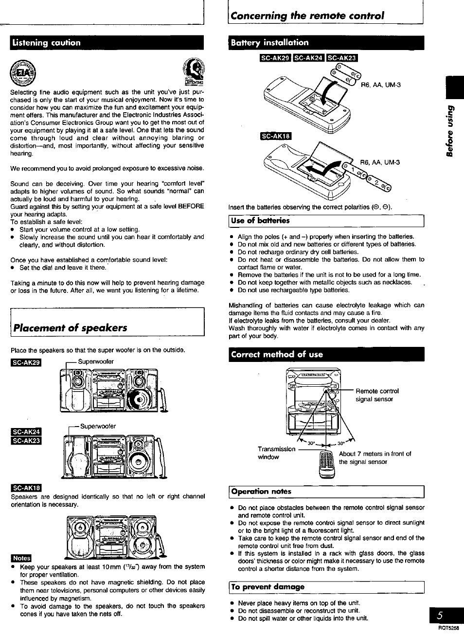 Battery Installation Correct Method Of Use Tsti Panasonic Sc Using Body Fluids Concerning The Remote Control