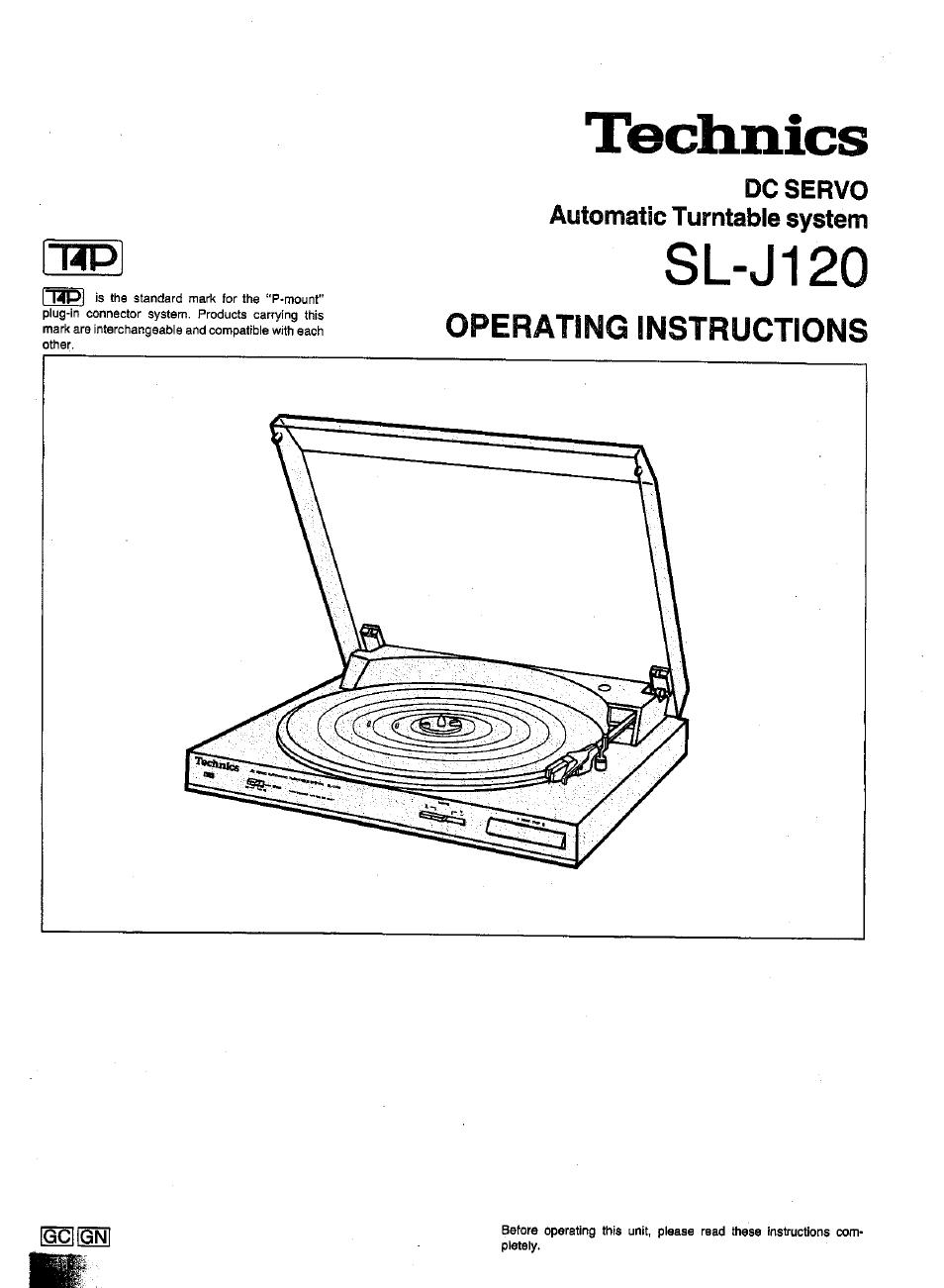 Panasonic SL-J120 User Manual | 6 pages