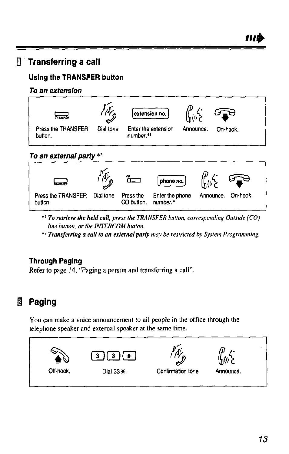 Download free pdf for panasonic kx-t7433 telephone manual.