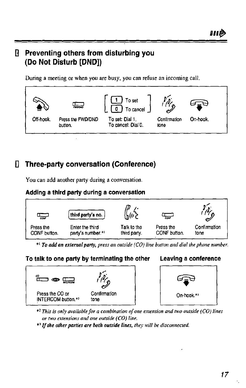 nr d three party conversation conference three party rh manualsdir com panasonic kx-t7433 phone user manual panasonic kx-t7433 phone user manual