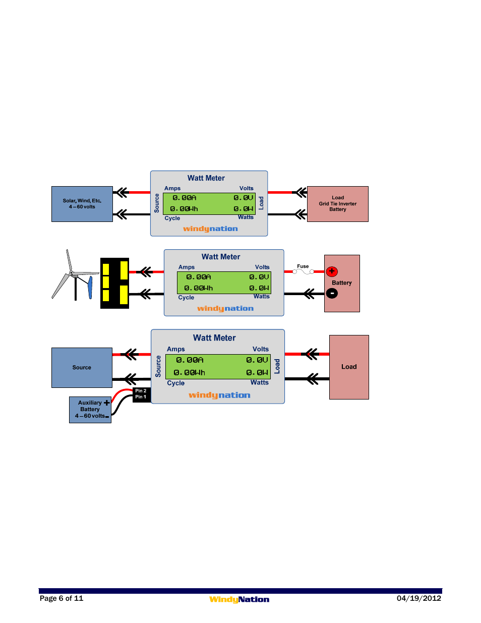 1 Wiring  1 Standard Connection Diagram  2 3