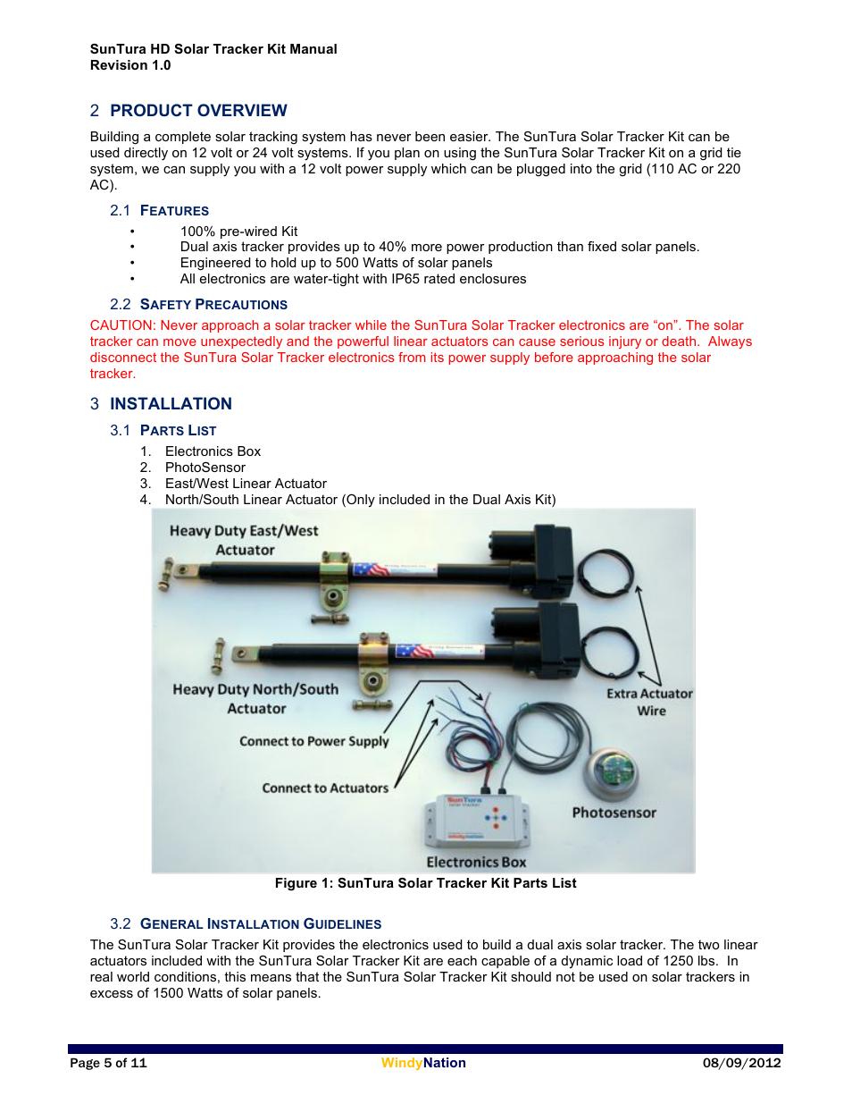 Windy Nation Suntura Series Solar Tracker HD User Manual