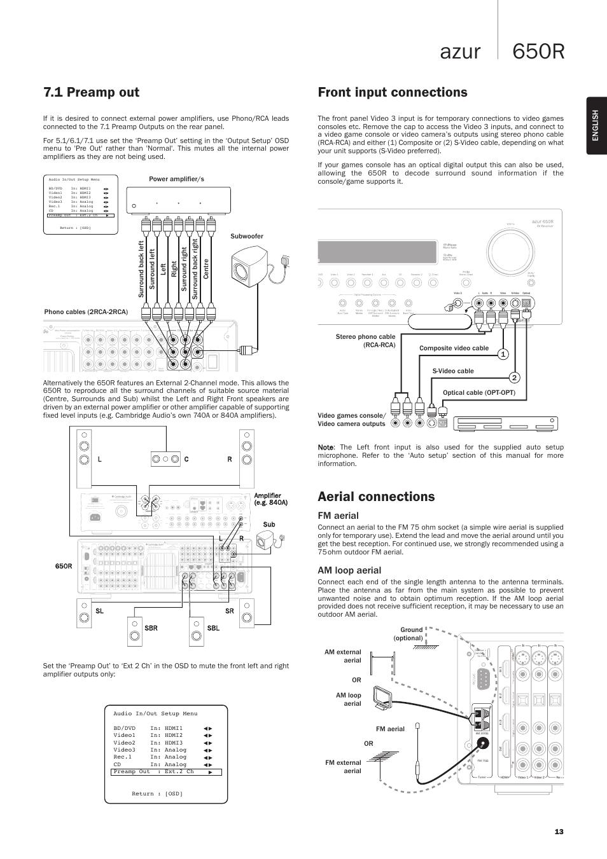 Cambridge Audio Azur 840a Specs