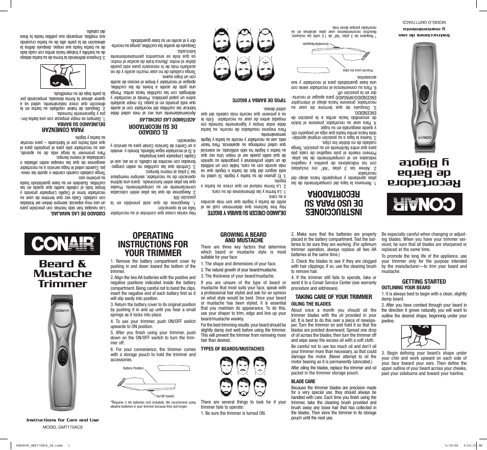Conair User Manuals