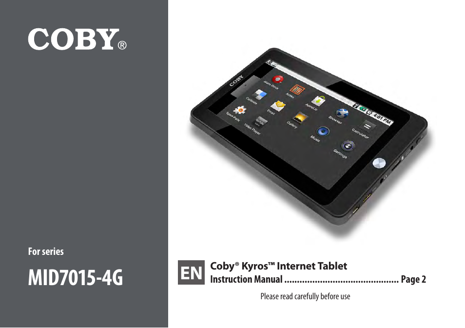 coby kyros mid7015 4g user manual 55 pages rh manualsdir com Coby Kyros MID7015 Charger Coby Tablet Kyros MID7015 Manual