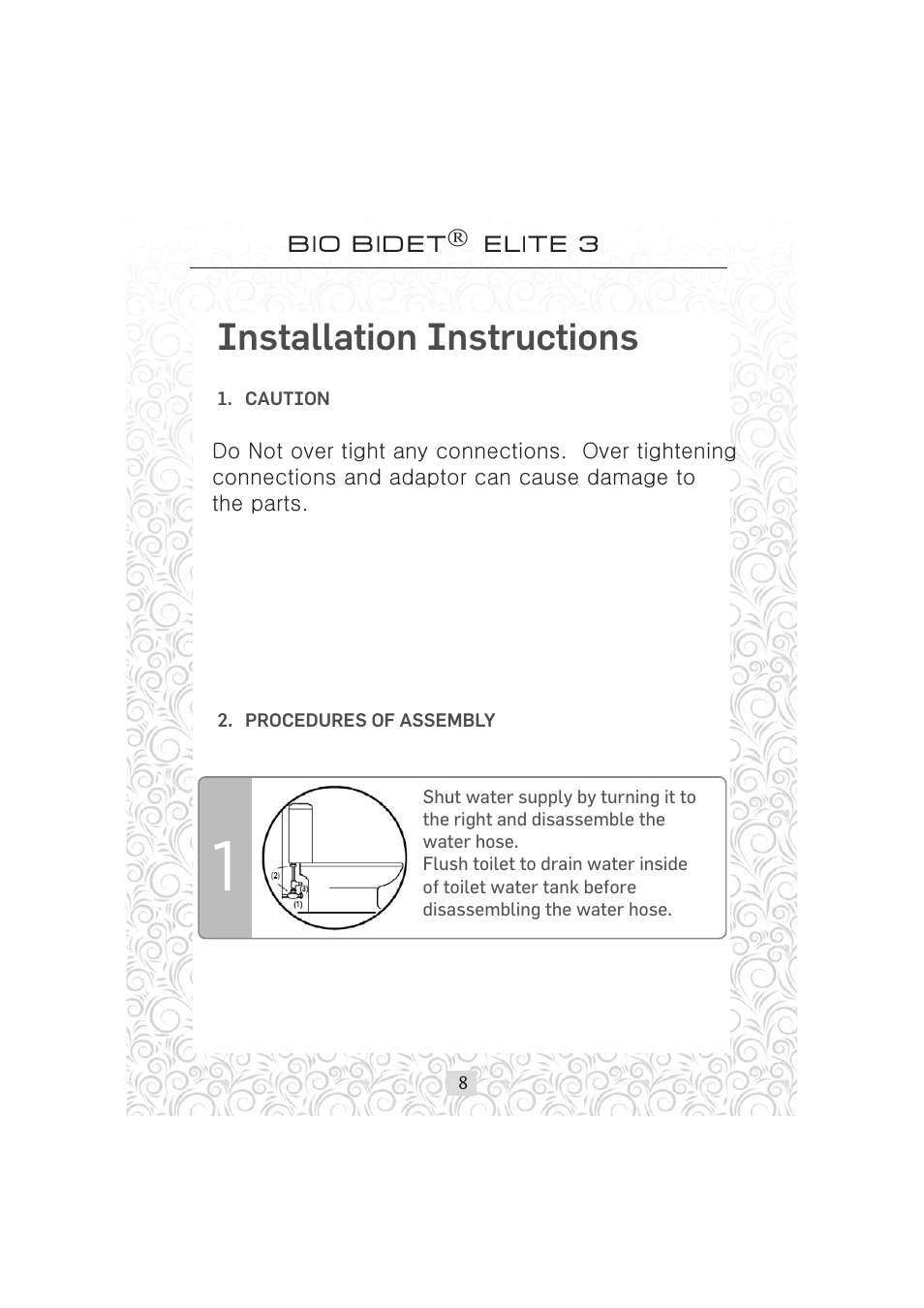 Bio Bidet Installation Instructions.Installation Instructions Bio Bidet Elite3 Bidet Attachment User