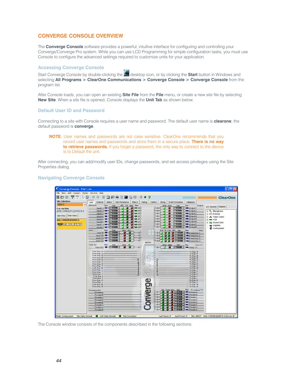 ClearOne comm CONVERGE SR 1212 User Manual   Page 49 / 320