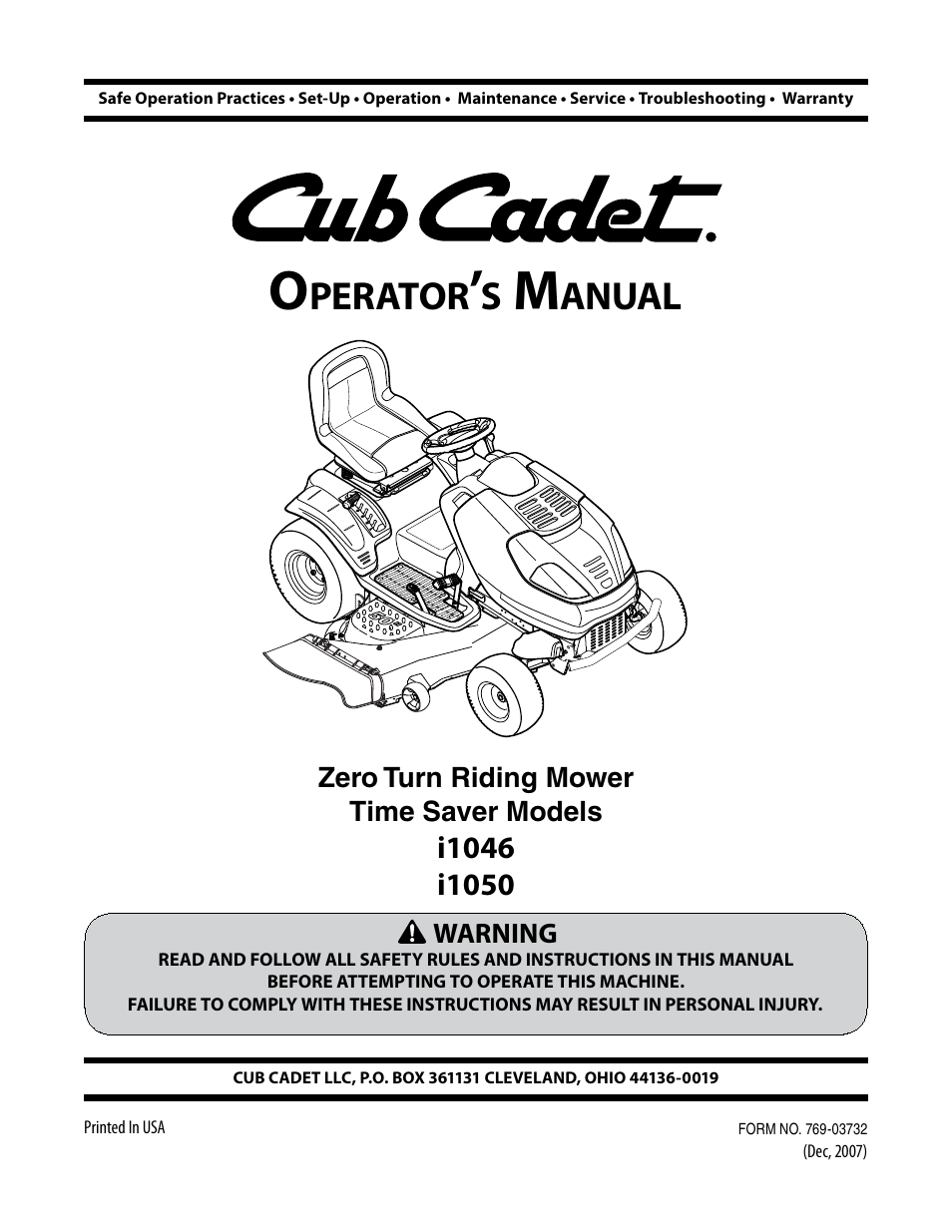 cub cadet i1050 user manual 32 pages also for i1046 rh manualsdir com Cub Cadet I1042 Oil Cub Cadet I1050 Problems