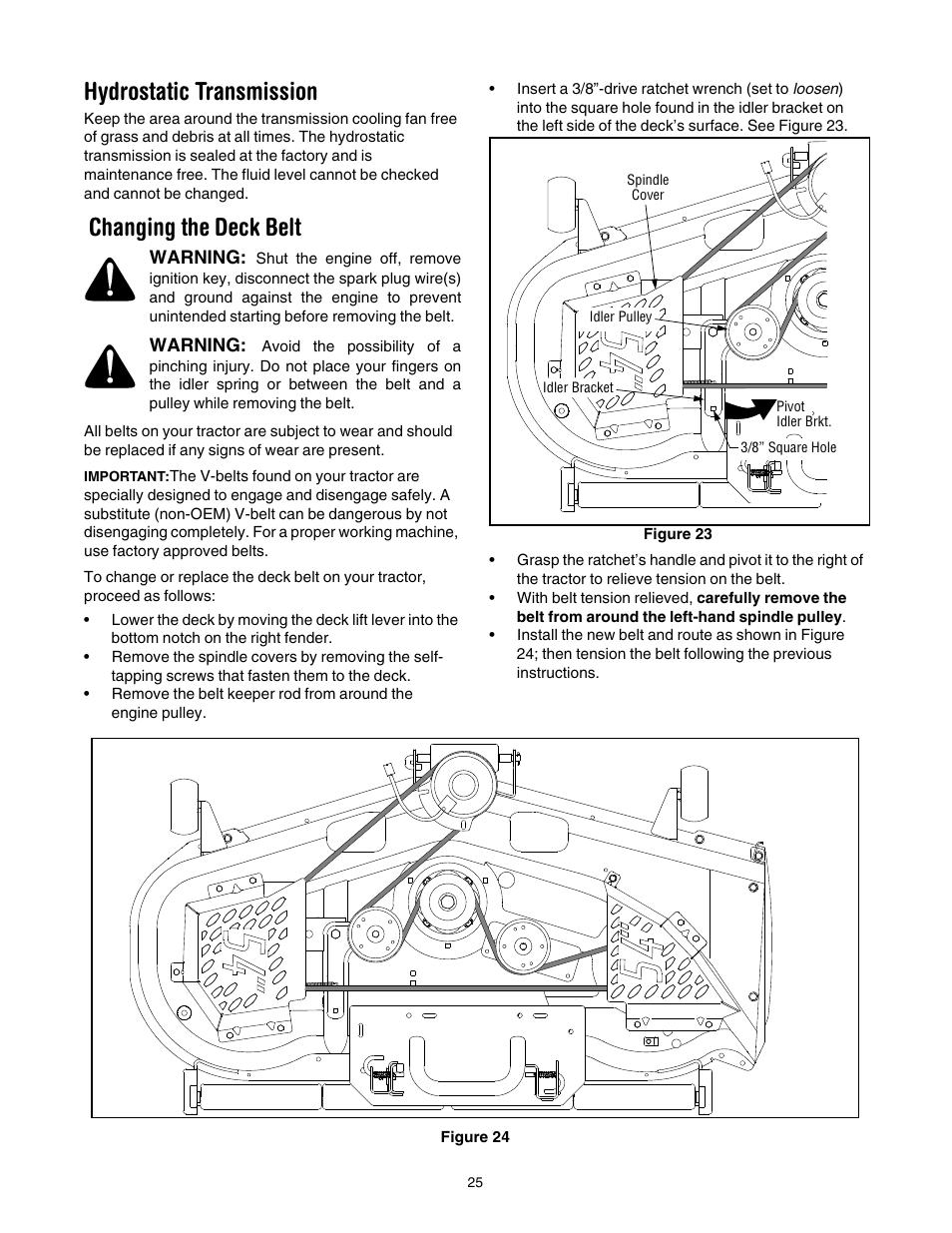 Cub Cadet Gt1554 Belt Diagram Modern Design Of Wiring Deck Hydrostatic Transmission Changing The Gt 1554 Rh Manualsdir Com