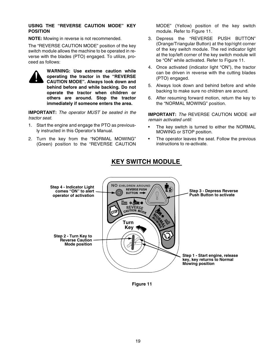 key switch module cub cadet gt 2544 user manual page 19 56 rh manualsdir com cub cadet gt 2544 owners manual Cub Cadet with Hydraulic Steering