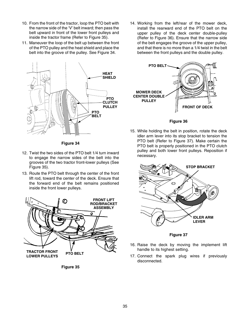 cub cadet gt-2550 user manual | page 35 / 56
