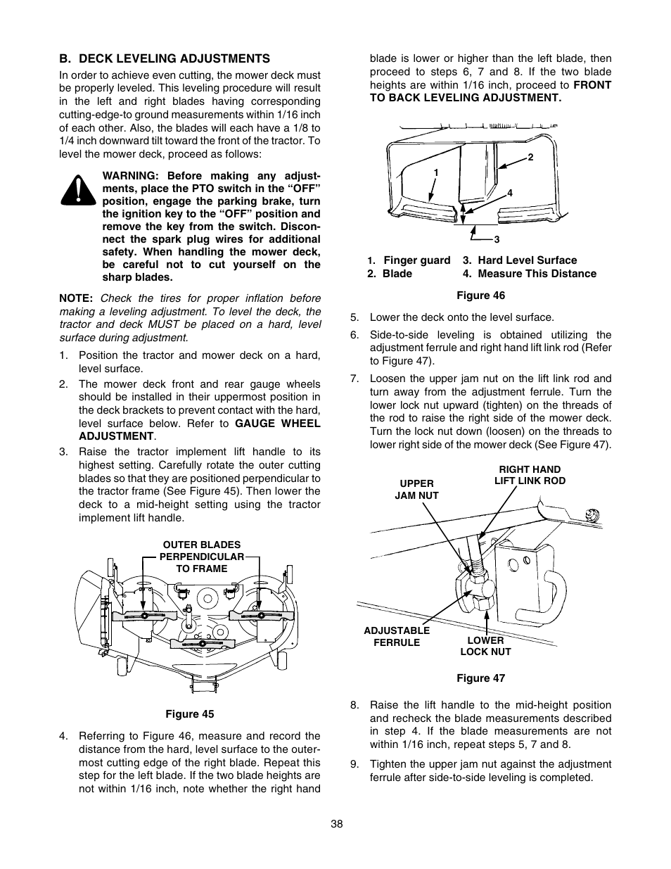 Cub Cadet GT-2550 User Manual | Page 38 / 56