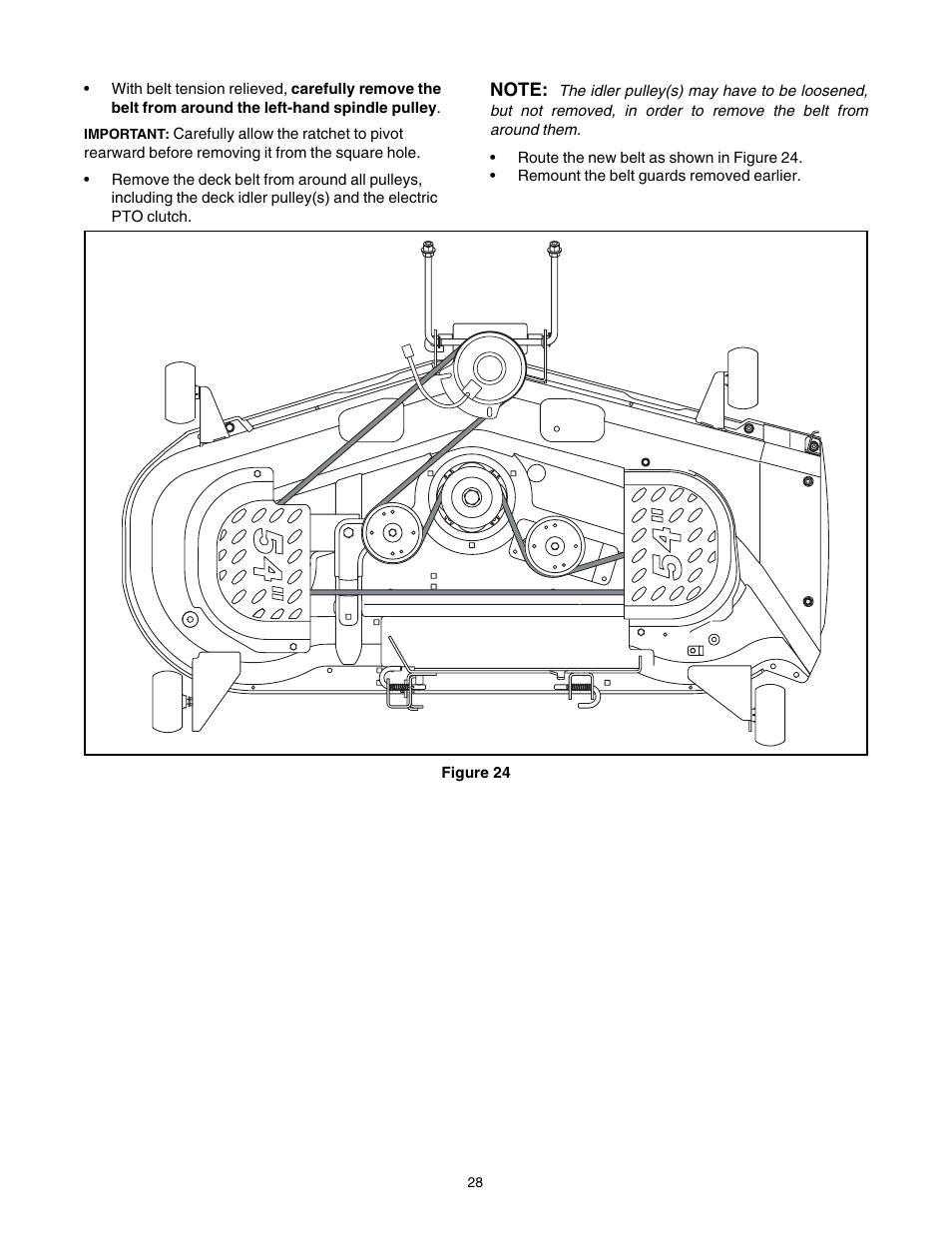 Cub Cadet SLT-1554 User Manual | Page 28 / 36