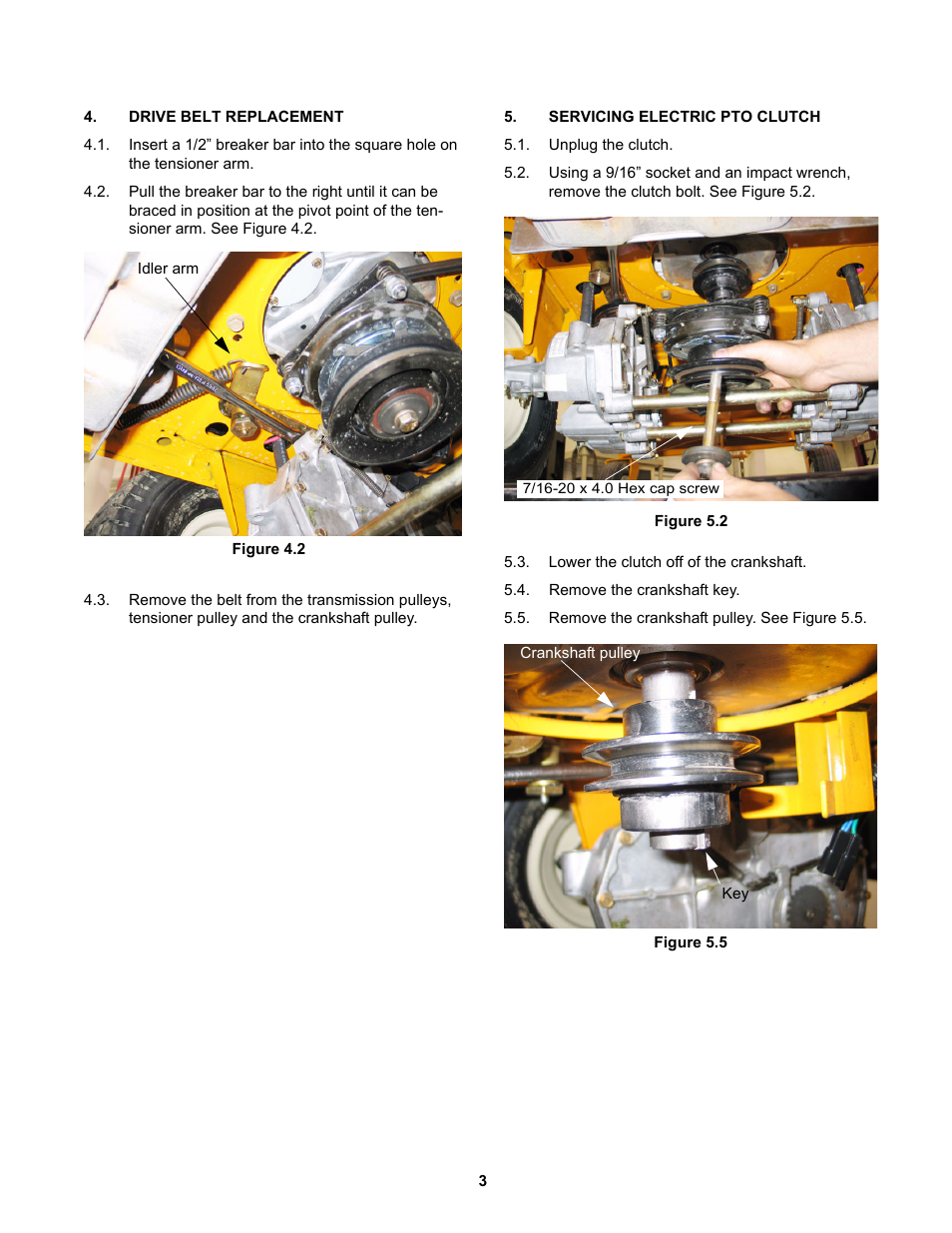 Drive Belt Replacement Servicing Electric Pto Clutch Cub Cadet Rzt 22 User Manual Page 7 30