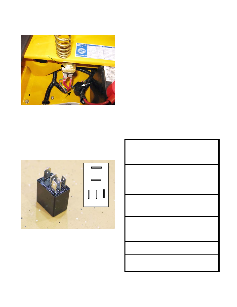 Starter Solenoid Pto Relay Cub Cadet Rzt S Series User Manual Common Terminal In Page 71 136