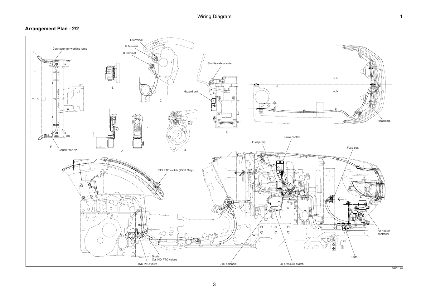 Wiring Diagram 1 3 Arrangement Plan 2 2 Cub Cadet 7532
