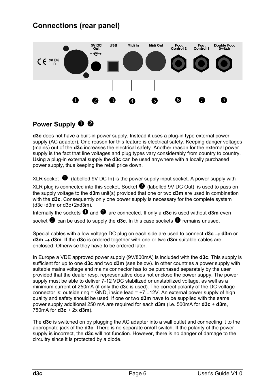 Doepfer d3c Midi/USB Organ Controller User Manual | Page 6 / 16