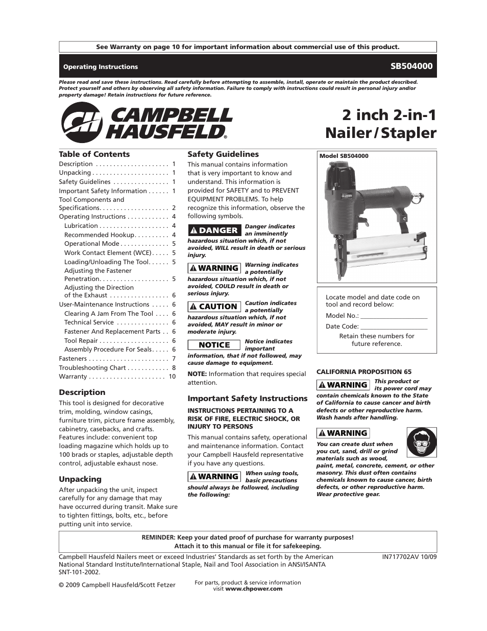 campbell hausfeld sb504000 user manual 32 pages also for in717702av rh manualsdir com campbell hausfeld iron force framing nailer manual campbell hausfeld 21 degree framing nailer manual