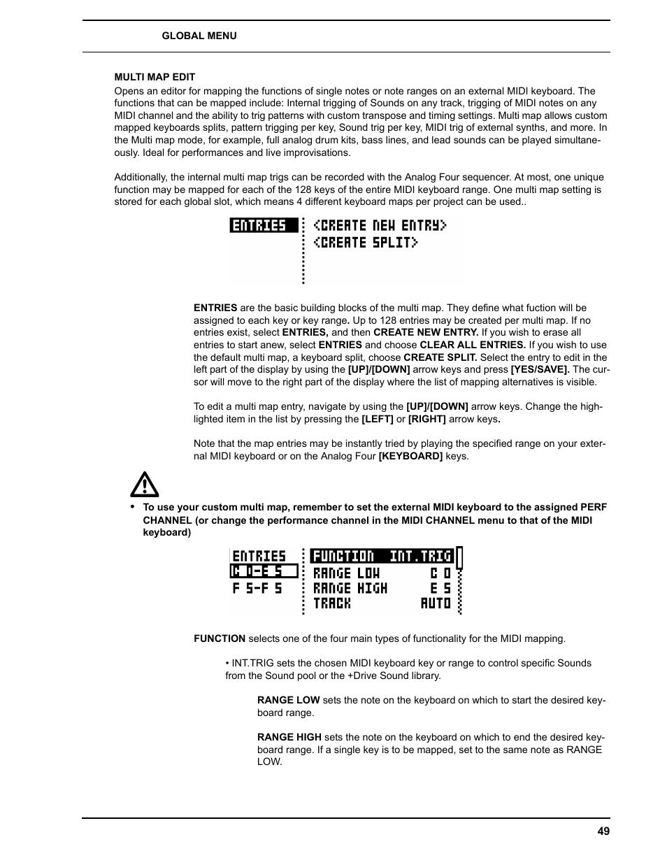 Multi map edit | Elektron Analog Four User Manual | Page 57