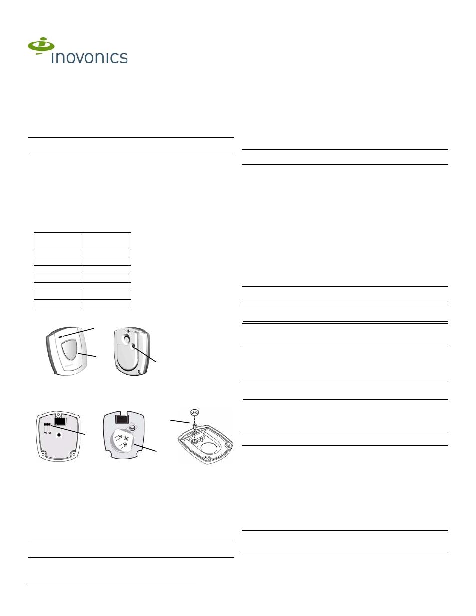 Inovonics EN1223S-60 User Manual | 2 pages | Also for: EN1223S