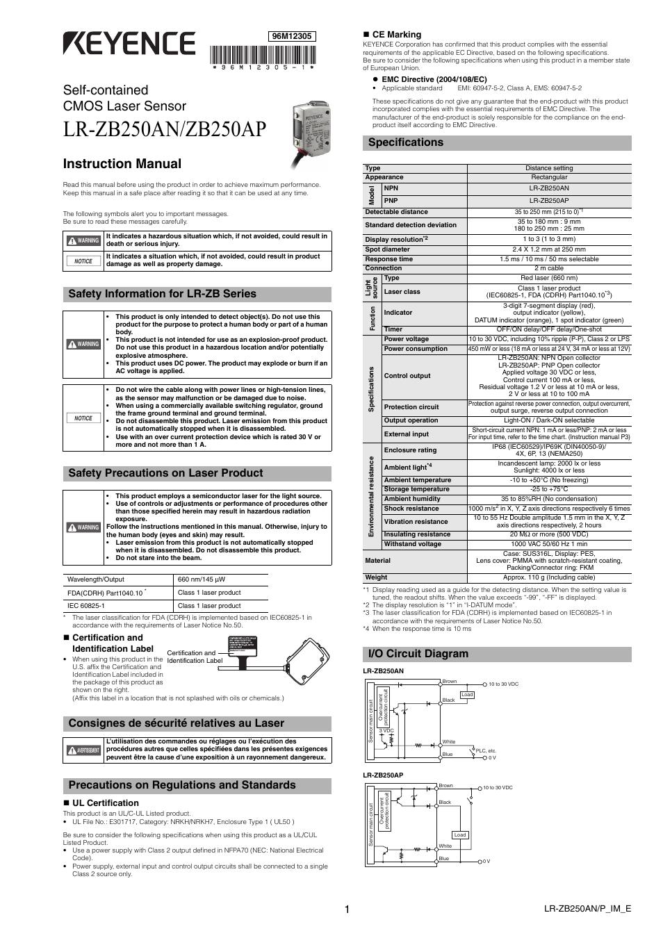 Keyence Lr Ap User Manual