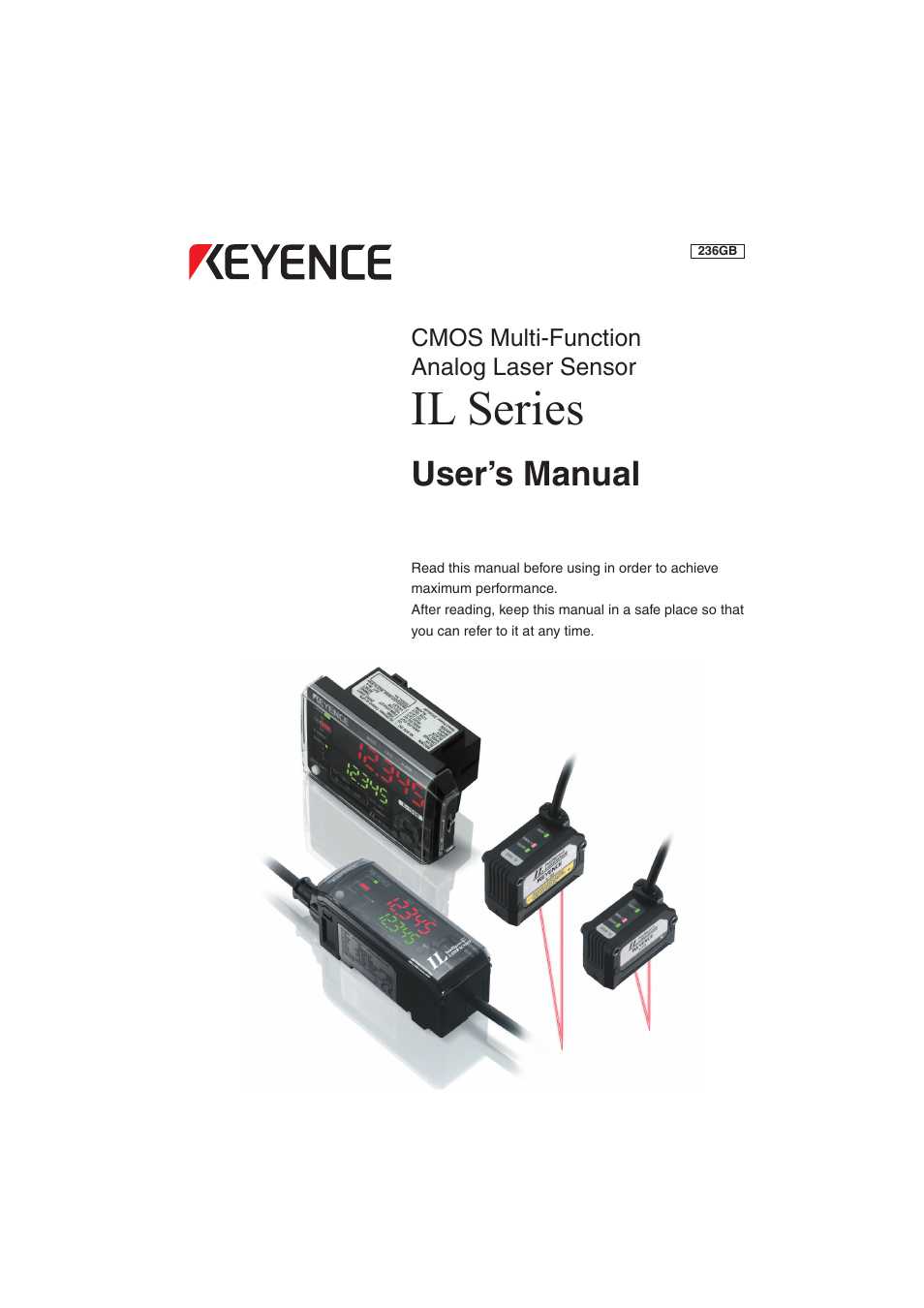 Keyence Il Series User Manual