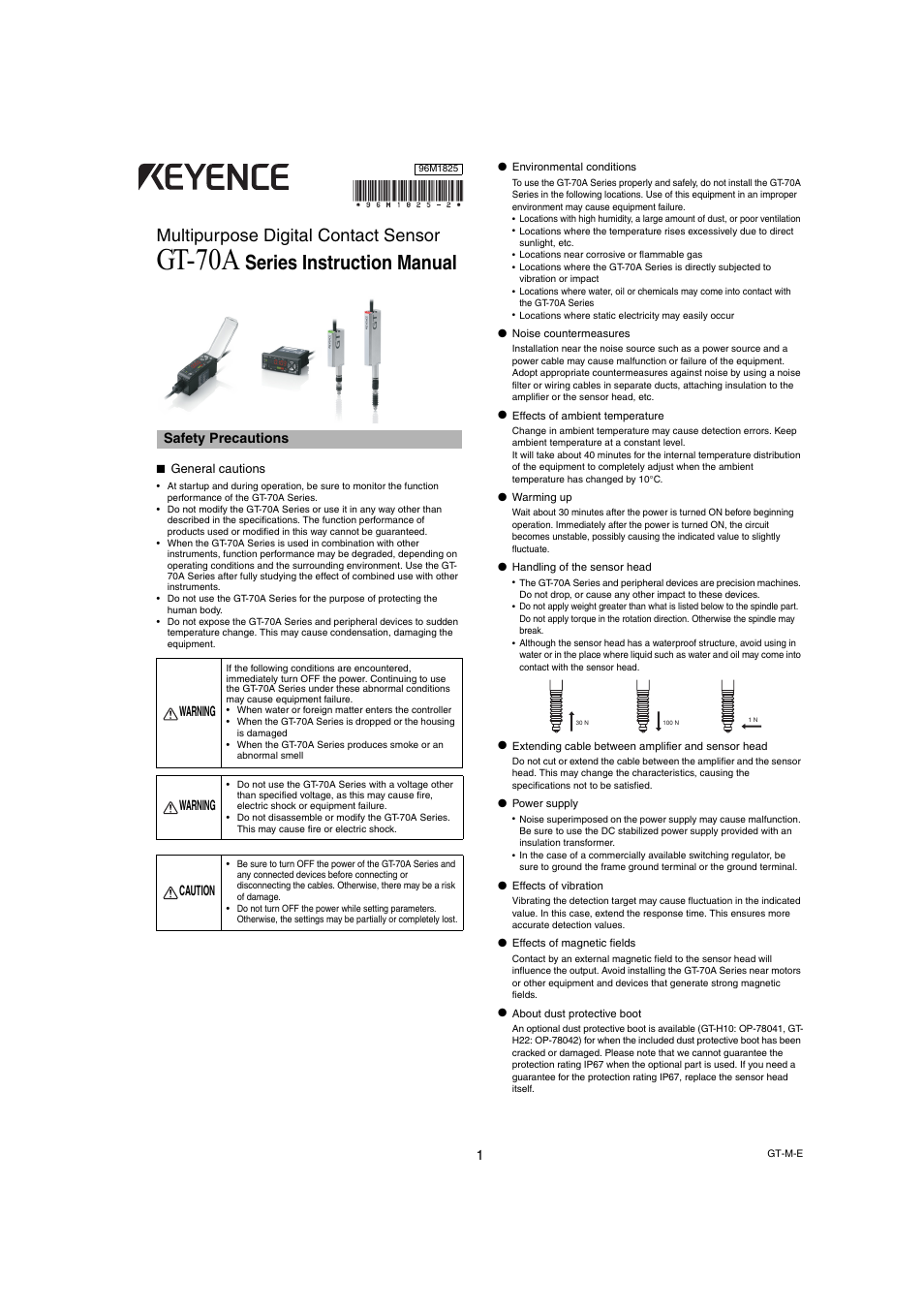 keyence gt 70a series user manual 10 pages rh manualsdir com KEYENCE Sensors KEYENCE Building