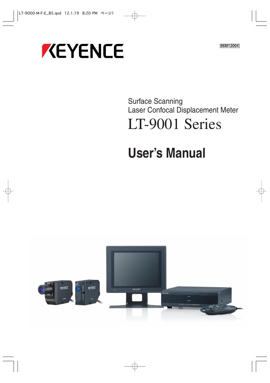 keyence lt 9001 series user manual 176 pages rh manualsdir com ae 9000 user manual pdf Instruction Manual Book