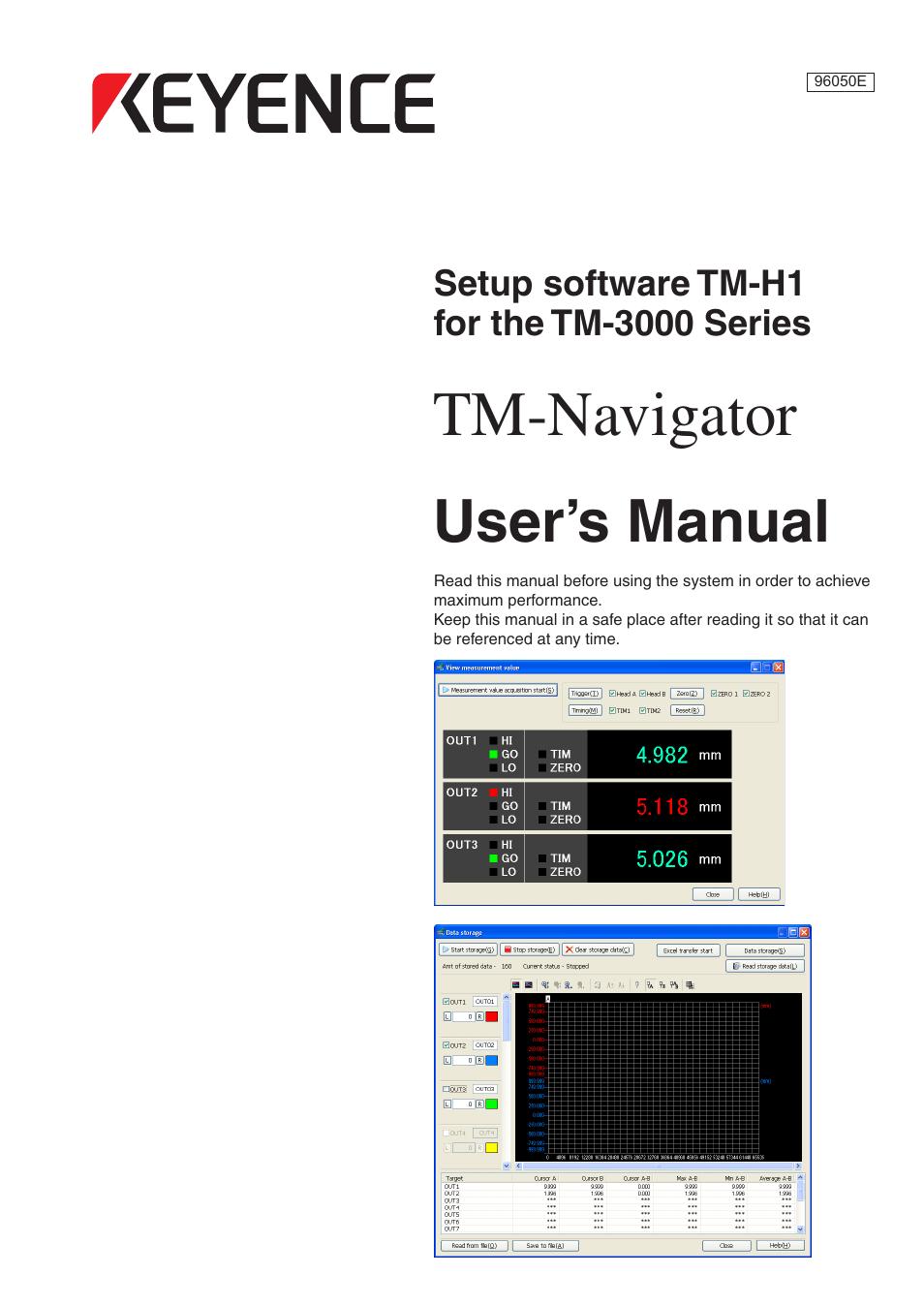 KEYENCE TM-3000 Series User Manual | 84 pages