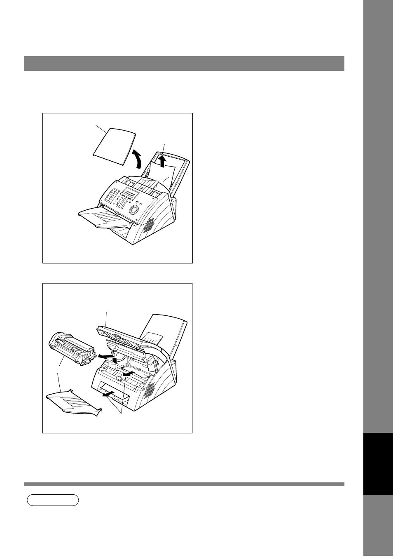 clearing a recording paper jam troubleshooting panasonic uf 490 rh manualsdir com Panafax UF- 8200 Panafax UF 885
