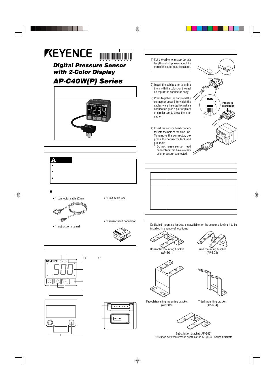 Keyence Ap C40wp Series User Manual 5 Pages Wiring Diagram